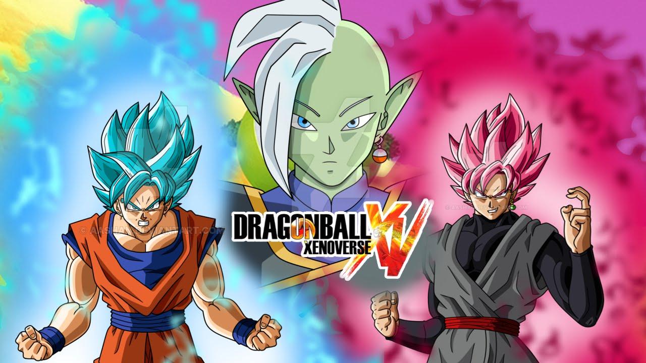 Goku Ssj4 Vs Goku Ssj3: Dragon Ball Xenoverse MOD : ZAMASU Y BLACK GOKU SSJ ROSE