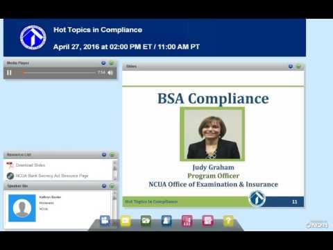 NCUA Webinar:  Hot Topics in Compliance (4/27/16)