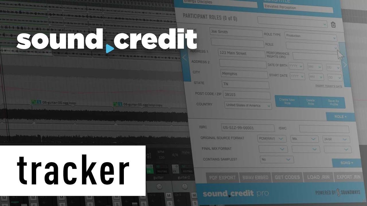sound credit tracker youtube