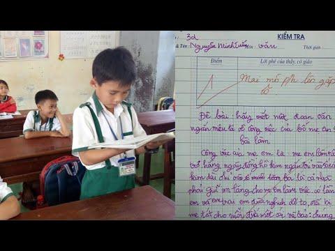 Bài văn tả công việc bố mẹ của HS lớp 3 khiến GV phải mời phụ huynh