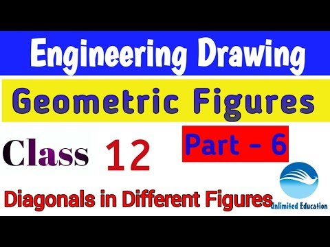 Geometric Figures - Diagonal Concepts | Class - 12 | Engineering drawing for RRB ALP CBT2