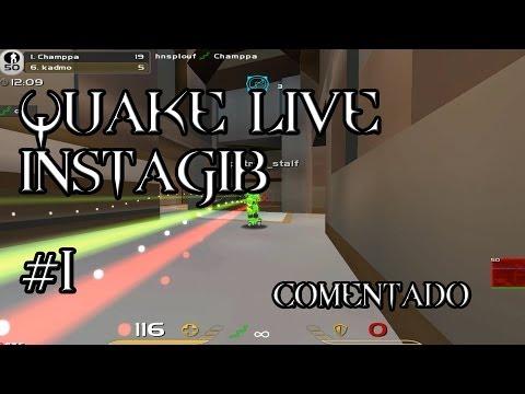 Quake Live !! Instagib. A tope con la Rail. Gamepl
