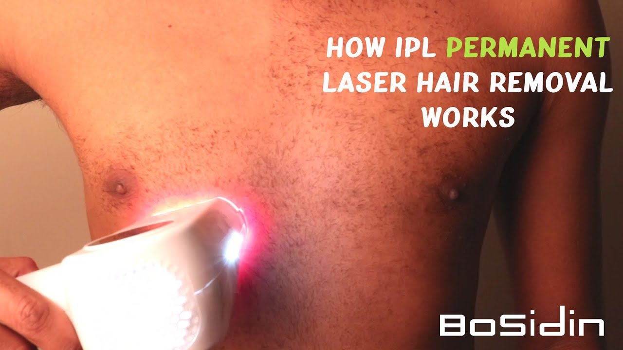 Permanent Hair Removal With Bosidin Ipl Hair Removing Device D