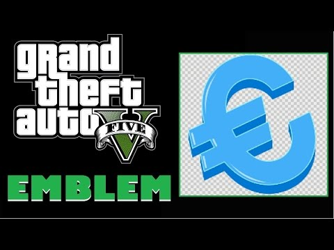 Grand Theft Auto 5 / GTA 5 / GTA V : Euro Sign Emblem Tutorial
