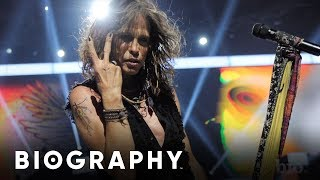 Steven Tyler - Frontman of Aerosmith & Rock Superstar | Mini Bio | BIO