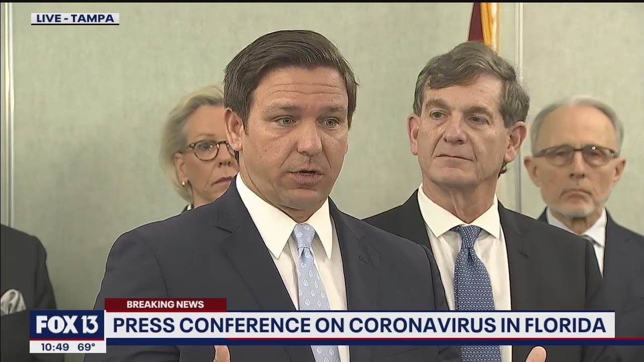 Full Press Conference Florida S First Coronavirus Covid 19 Cases Youtube