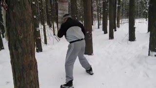 Уличная тренировка рукопашного боя ударная техника