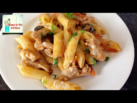 Chicken Pasta - Chicken And Cheese Pasta Recipe By (HUMA IN THE KITCHEN)