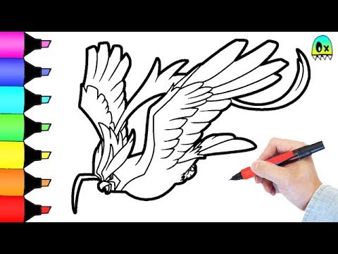 pokemon coloring pages mega pidgeot colouring book fun for kids