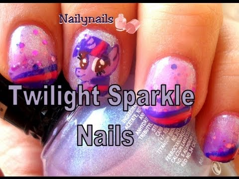 Twilight Sparkle My little Pony Nails  - Uñas de Mi Pequeño Pony Videos De Viajes