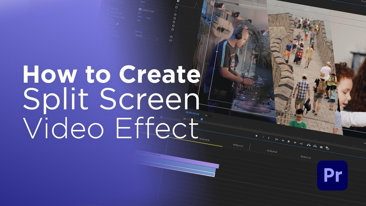 طريقة إنشاء تأثير تقسيم الشاشة على برنامج البريمير برو | Create Split Screen Effect In Premiere Pro