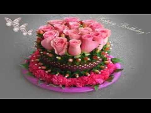 Birthday Cake Images And Flowers ~ Birthday cake flowers youtube