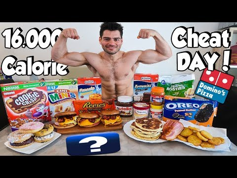 16000 CALORIE CHEAT DAY | FULL DAY OF EATING CRAVINGS | BOYvsJUNKFOOD