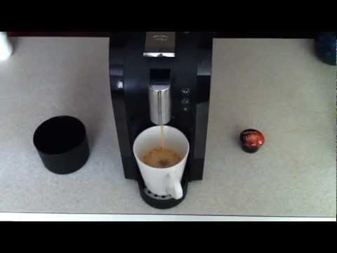 Aldi expressi - making coffee