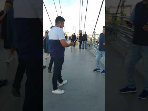Прыжок с пешеходного моста 15 метров Вегас Крокус Сити - Павшинская пойма турецкий фанат Фенербахче́