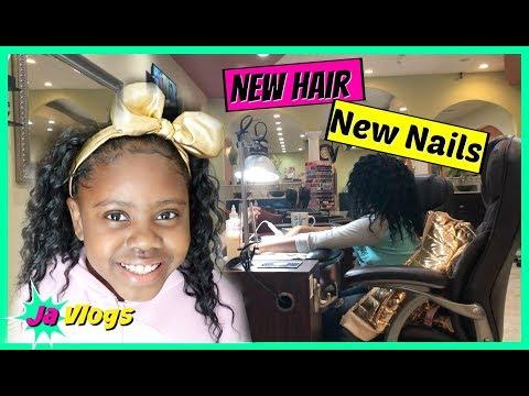 New Hair ~ New Nails | Family Vlogs | JaVlogs