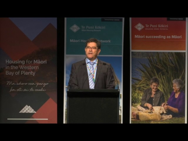 Tauranga National Māori Housing Conference 2016- Int Speaker, Canada Robert Byers