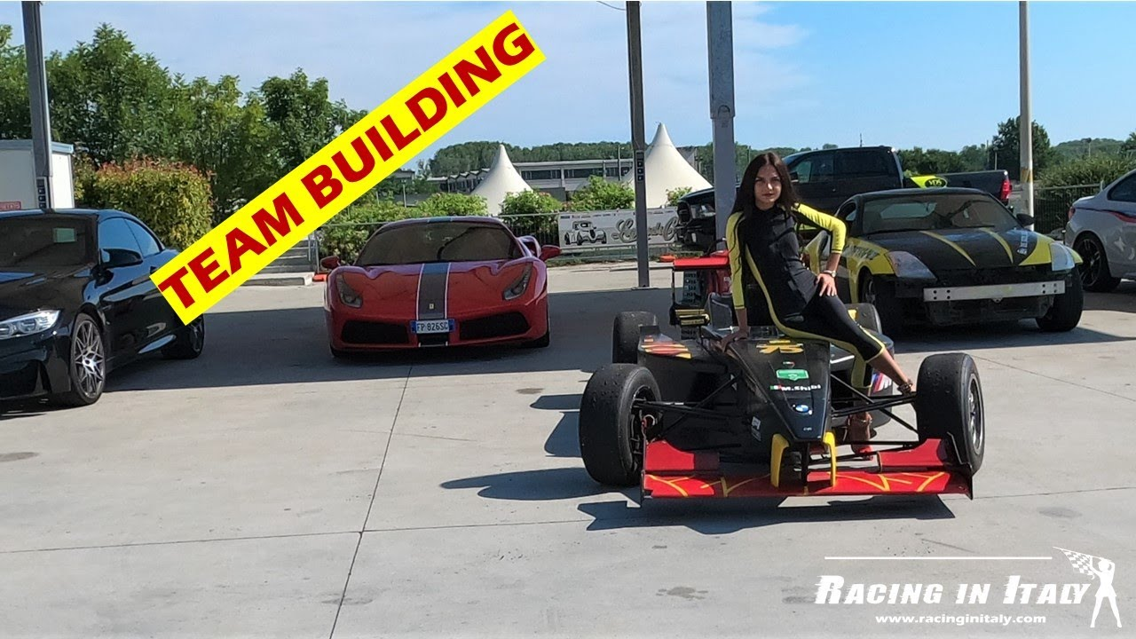 Events and Incentive days for Team Building   Birthdays   Bachelor parties with Race Cars in Italy