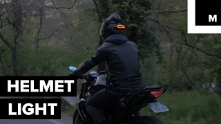 Motorcycle helmet accessory is trying to make riding safer