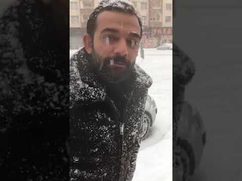 Kar Yagsin Hava Yumuşayacak Diyen Adam......