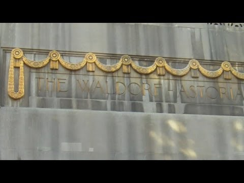 Waldorf Astoria Hotel In New York City -  Exterior Views On Park Ave And Lexington Ave