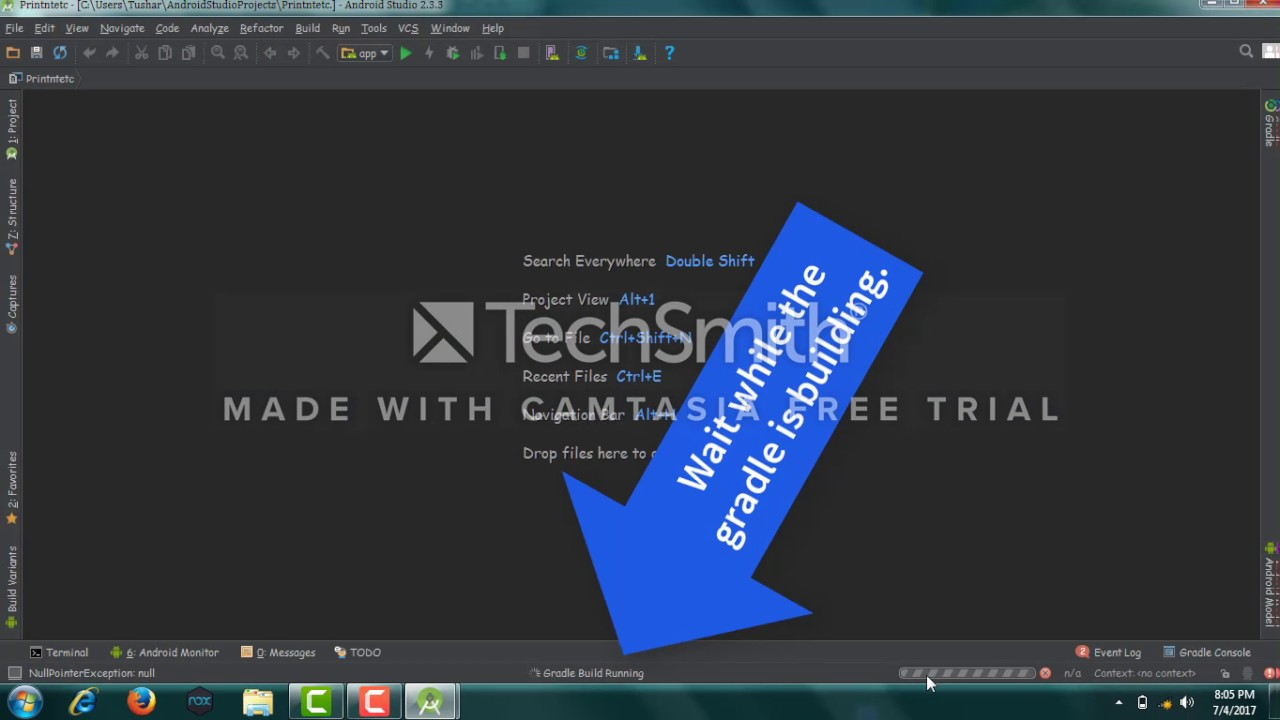 How To print \n \t in Android Studio