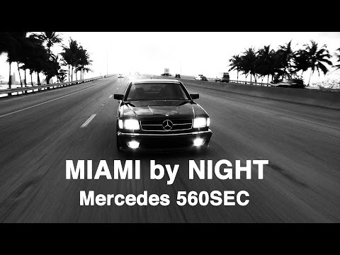 Mercedes 560SEC - Miami by Night (EXCLUSIVE STAR PEOPLE CLIP)