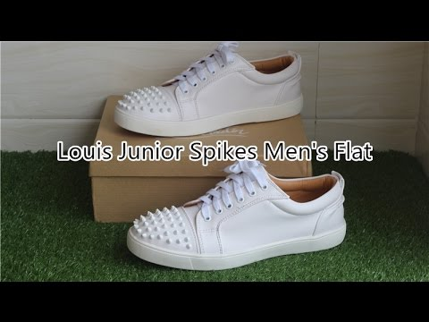 32ea0667551b Christian Louboutin Louis Junior Spikes Men s Flat White Review ...
