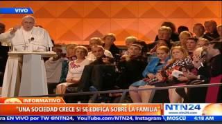 Con emotivo discurso papa Francisco le recuerda a la humanidad el significado de la Familia