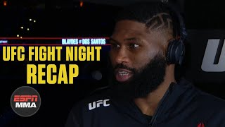 Curtis Blaydes breaks down win vs. Junior Dos Santos   UFC Fight Night Post Show   ESPN MMA