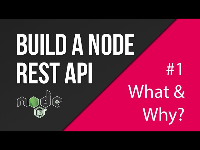 What is a RESTful API? | Creating a REST API with Node.js