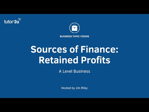 Sources of Finance: Retained Profits
