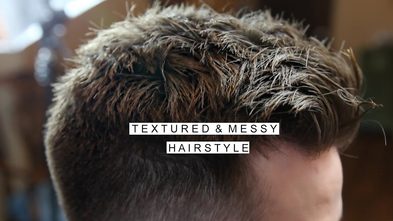 textured messy hairstyle men