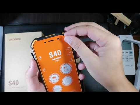Quick Unboxing Of The Doogee S40 Waterproof Phone