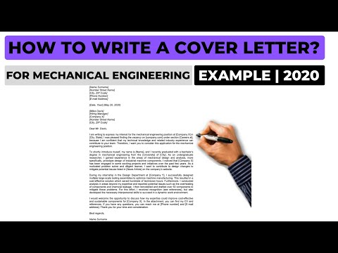 How To Write A Cover Letter For A Mechanical Engineering Job? (2020) | Example