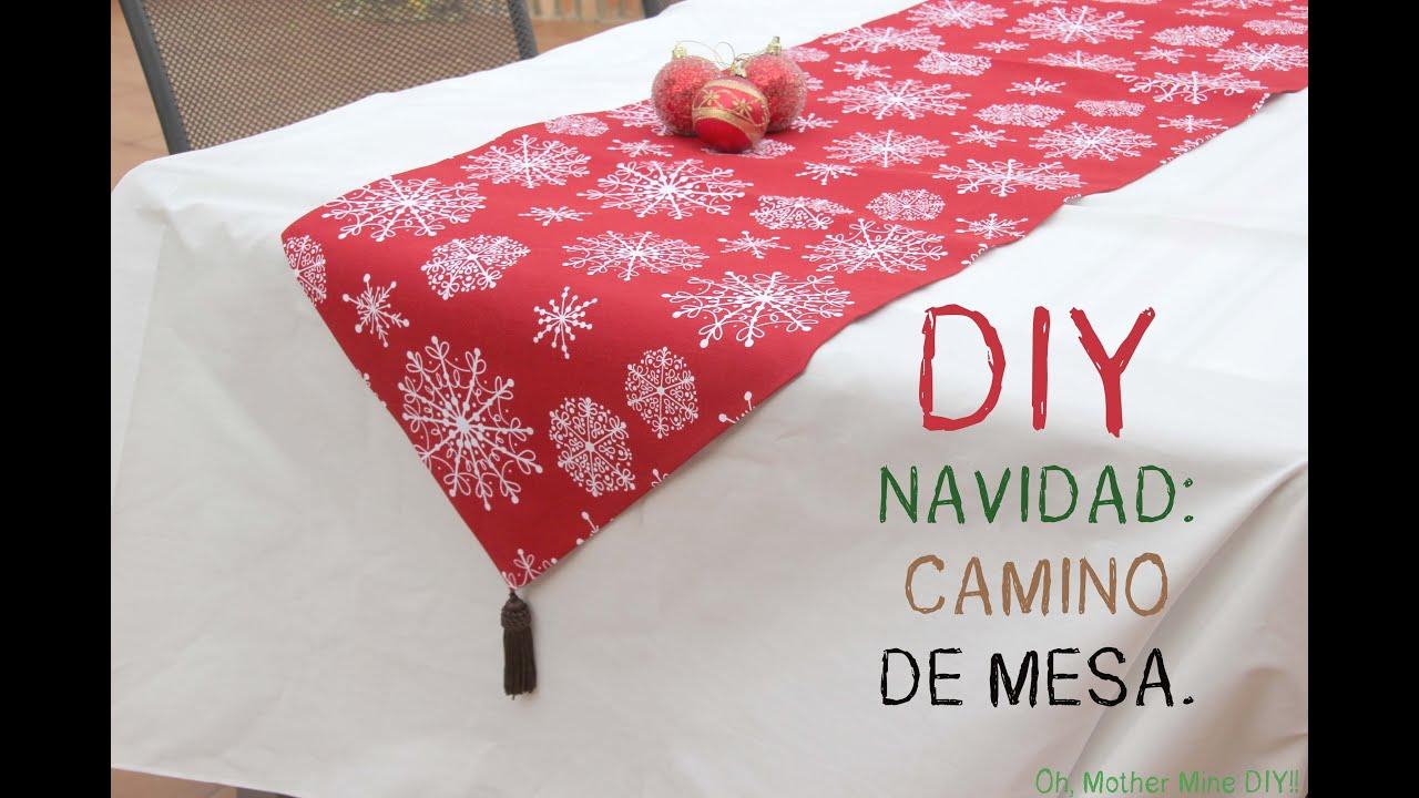 Diy navidad decorar tu casa con este camino de mesa for Adornos de navidad para hacer en casa