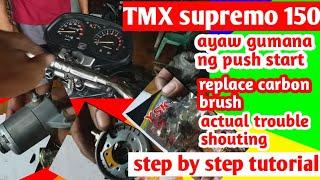 Honda supremo 150 replace carbon brush starter motor