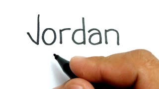 NBA LEGEND, How to turn words JORDAN into Michael Jordan Chicago Bulls basketball legend
