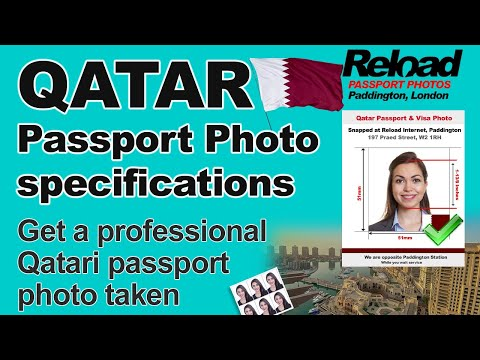 Qatar Passport Photo and Visa Photo snapped in Paddington, London