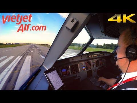 CockpitSeries: First Flight of VietJet Airbus A321   Hamburg - Almaty