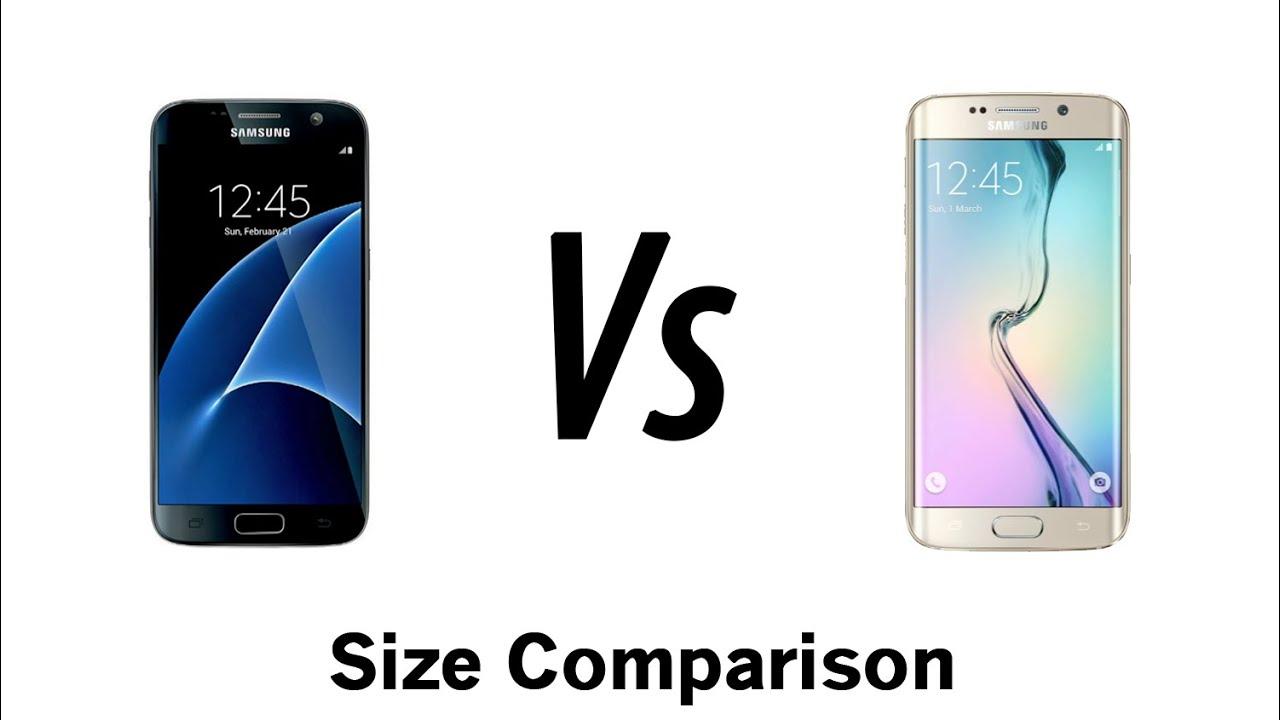 Galaxy S7 vs Galaxy S6 Edge - Size Comparison