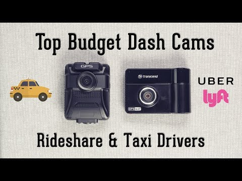 Top Budget Taxi & Ridesharing Dash Cameras for 2017 - Dual Lens Cams for Uber, Lyft
