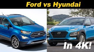 Hyundai Kona vs Ford EcoSport - A Pint Sized Battle