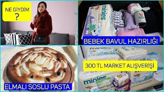 Ne Giydim? | Bebekle Yolculuk | Market Alışverişi| Elmalı Soslu Pasta Tarifi