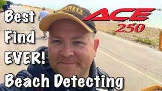 �������� ���� Beach Metal Detecting UK Ace 250 | Best Find Ever!! (59) ������
