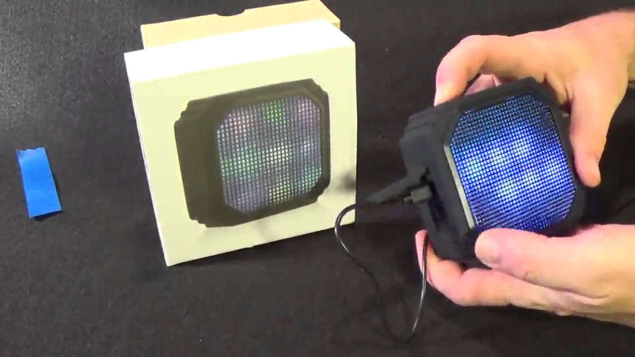 AOMAIS Wireless Bluetooth Speakers with Built-in Microphone and LED Lights  - Black