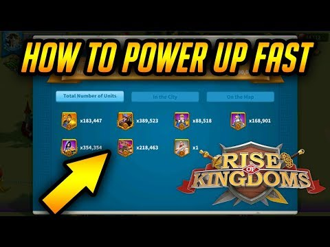How to Power up Fast! Unlock and Trained T5 Infantry, [ 240 Days Speed ups ] | Rise of Kingdoms