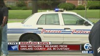 Prisoner captured after mistakenly released in Oakland County