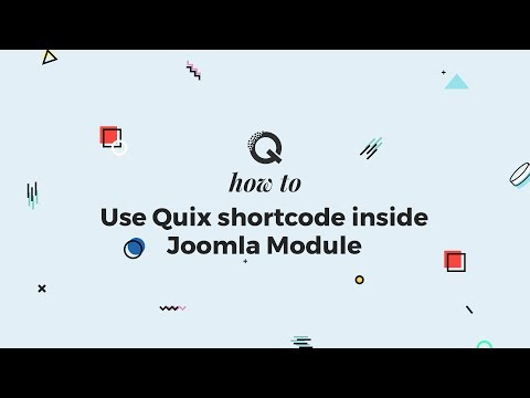 How To Use Quix Shortcode Inside Joomla Module