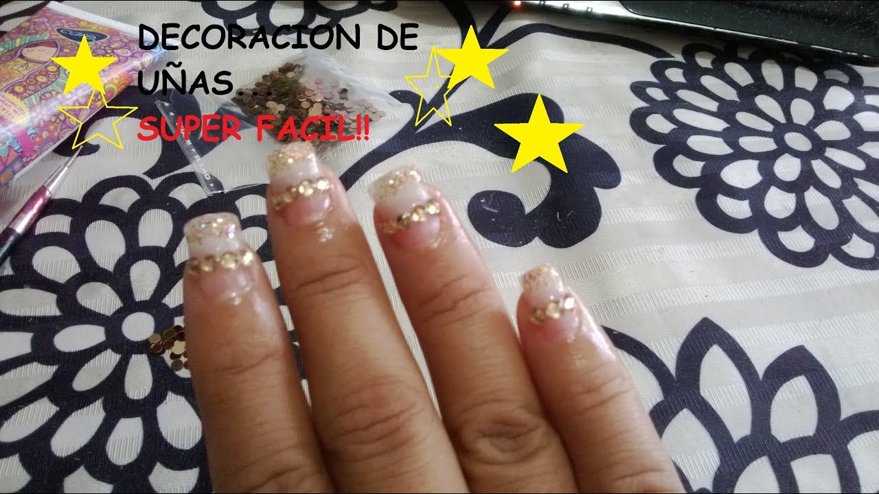DIY: DECORACION DE UÑAS POSTIZAS SIN USAR ACRILICO SUPER FACIL, PART ...